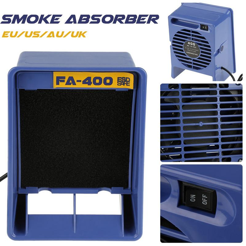 Tools : smoke exhaust FA-400 Smoking Apparatus Welding Exhaust Anti-Static Smoke Absorber Efficiently Non-Scaling Horizontal