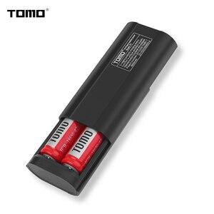 Image 2 - TOMO 18650 ładowarka obudowa z power bankiem P2 bateria litowa inteligentna ładowarka pudełko do przechowywania wskaźnik LED podwójny USB porty wyjściowe 2A