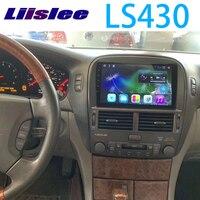 LiisLee автомобильный мультимидийный навигатор Hi Fi аудио Радио стерео для Lexus v образной КРЕПЕЖНОЙ ПЛАСТИНОЙ LS 430 LS430 XF30 2000 ~ 2006 оригинальный Стил