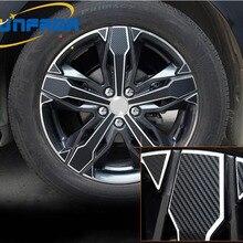 """1"""" углеродного волокна rimprints для центрального движения колеса наклейка на обод наклейки для PEUGEOT 3008 4008 стайлинга автомобилей(для приготовления пищи на 4 колеса"""