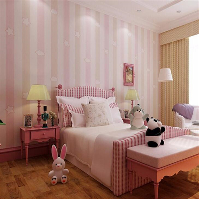 Beibehang Home decoration 3d wallpaper roll stars clouds boys and ...