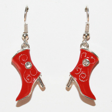 Hot Fashion Jewelry 20 Pair Vintage Drip Red Cowboy Boots Charm Fashion Pendants Drape Earrings DIY Free Shipping Q051 hot fashion jewelry 50 pair vintage ancient silver cute lobster charm fashion pendants drape earrings diy free shipping q070