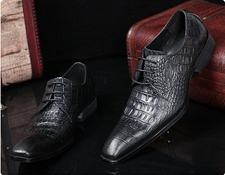 Black red genuine wedding oxford shoes for men alligator crocodile skin square toe business office formal men shoes male lastsBlack red genuine wedding oxford shoes for men alligator crocodile skin square toe business office formal men shoes male lasts
