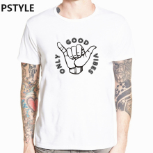 pstyle only good vibes letter t shirt harajuku print men t-shirt casual streewear tshirt short sleeve 0 neck funny shirts tops