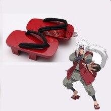 Athemis Anime cosplay Narotu cosplay Jiraiya shoes  red Clogs Hight quality