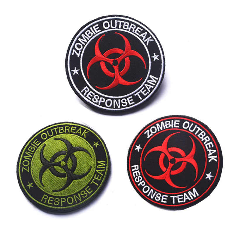 BIOHAZARD ZOMBIE HUNTER OUTBREAK RESPONSE TEAM TACTICAL HOOK PATCH FOREST BADGE