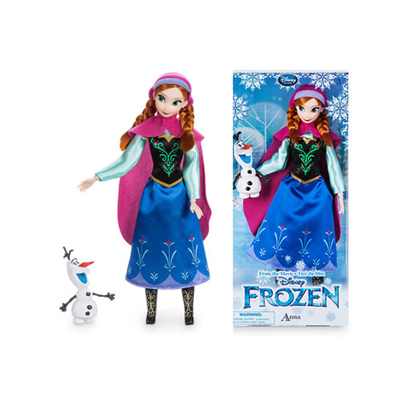 Original toy NEW cute princess Anna girl toys doll multi joint Princess dolls limited collection birthday gift toys for children disney princess brass key 2003 holiday collection porcelain doll snow white
