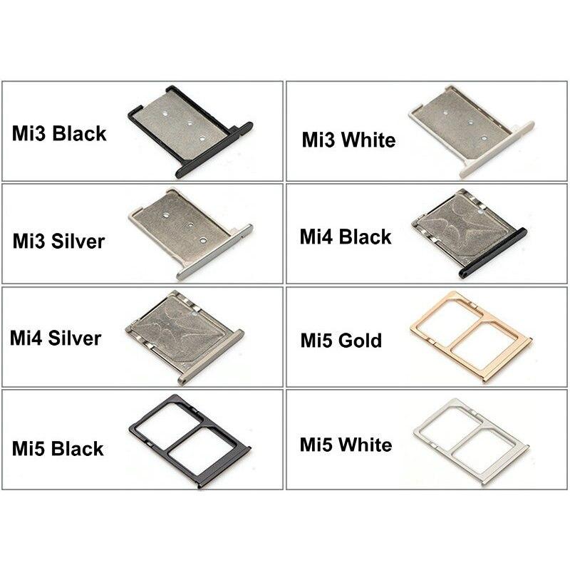 New SIM Card Tray Socket Slot Holder Adapters Replacement Parts For Xiaomi Mi3 Mi 3 Mi4 Mi 4 Mi5 SIM & TF Card Tray Adapters