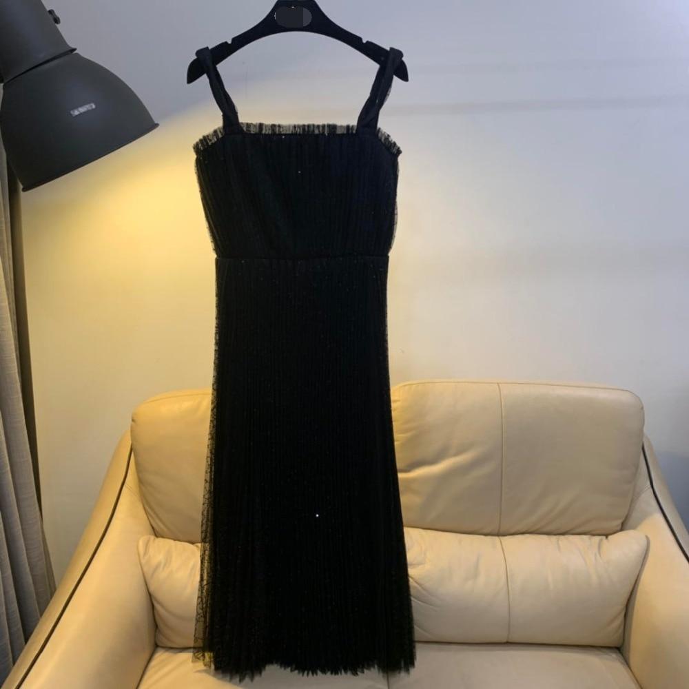 2019 new fashion new Dior heavy work sequin dress dress 0312