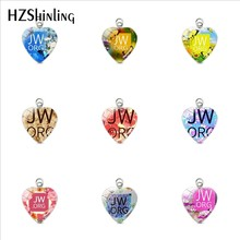 New Handmade Pendants Flower JW.ORG Round Glass Dome Jehovah Pictures Stainless Steel Charms Women Men Gifts Jewelry(China)