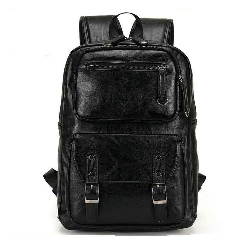 2019 style européen et américain solide hommes en cuir véritable sac à dos sac à bandoulière cartable ordinateur sac de voyage femmes sac à dos