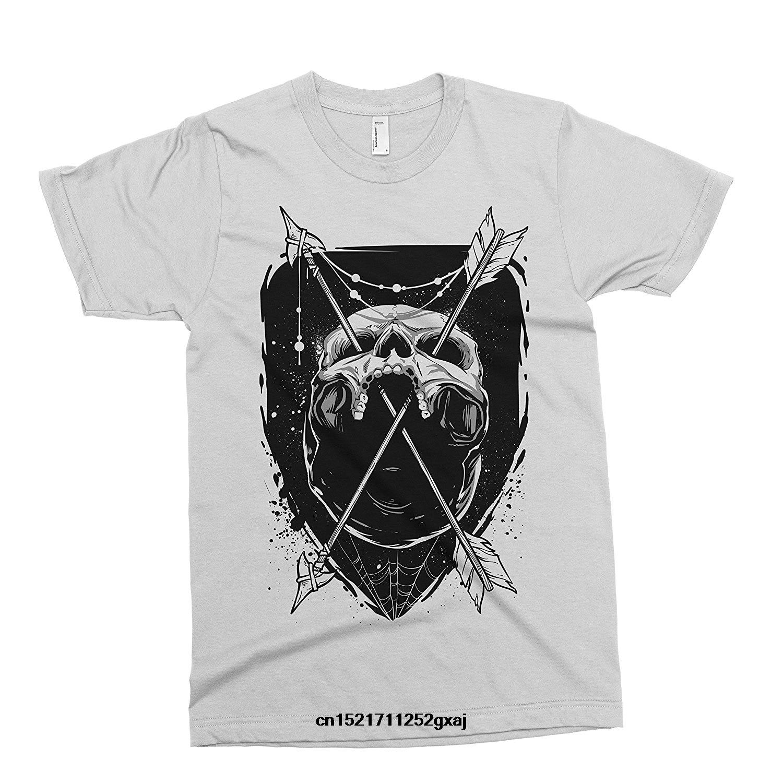 Gildan Men T Shirt Skull Arrows Tattoo Alternative Drop Dead