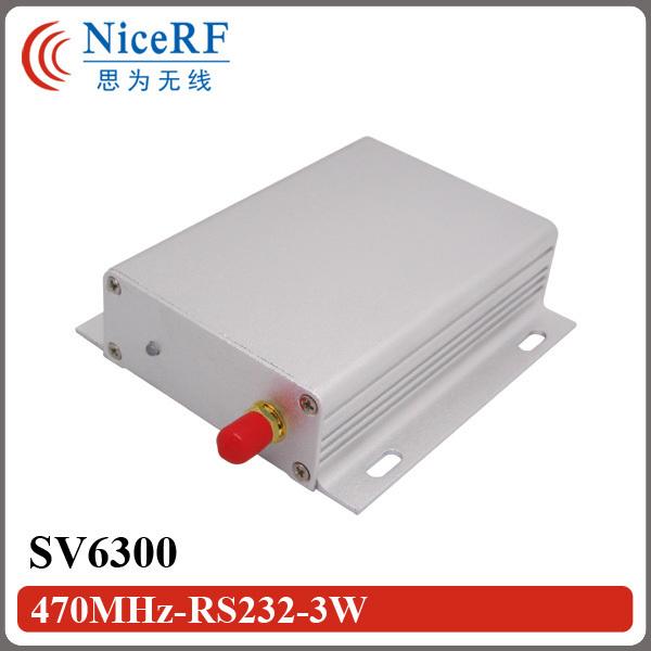 SV6300-3W 470 MHz Módulo Transceptor Inalámbrico Si4432 Interfaz RS232 6 KM (Sin Incluir la Antena)