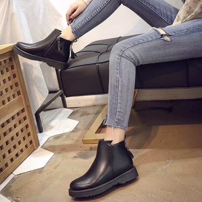 9087db529ec Akexiya 2018 Winter Soft Women Ankle Boots Spring Autumn Vintage Fringe Shoes  Woman Outdoor Rain Boot Ladies High Heels Footwear-in Ankle Boots from Shoes  ...