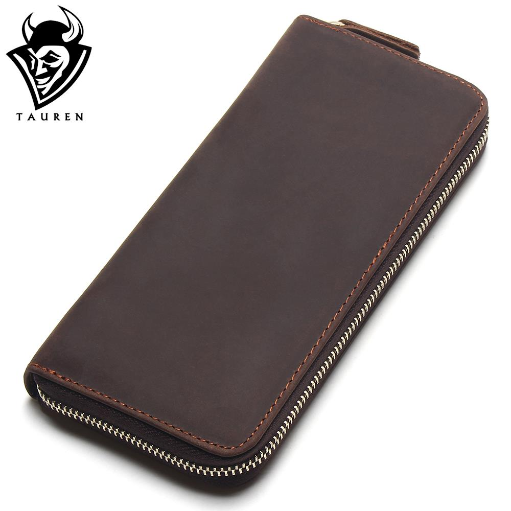 2017 Top Quality New Men Wallets Vintage Cow Crazy Horse Luxury Leather Men Manual Male Purse,Carteira Masculina 2016 hot selling layer crazy horse leather male purse cow vintage wallets simple luxury men carteira masculina m1068