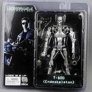 """Image 4 - NECA figura de acción de Terminator 2, caja nueva, envío gratis, T800, Cyberdyne, Showdown, juguete de figura de PVC, 7 """", 18cm"""