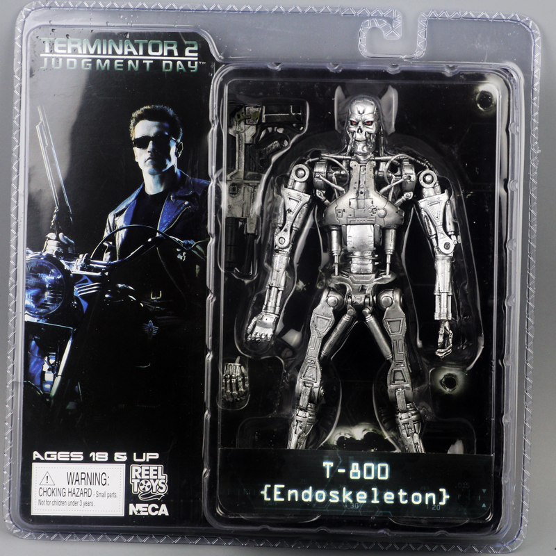 "Image 4 - New Box Free Shipping NECA The Terminator 2 Action Figure T800 Cyberdyne Showdown PVC Figure Toy 7""18cmfigure toytoys free shippingterminator 2 -"