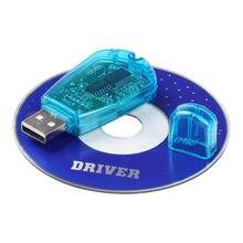 Sıcak satış! Mavi USB cep telefonu standart SIM kart okuyucu kopya Cloner yazıcı SMS yedekleme GSM/CDMA + CD UM
