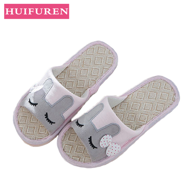 Lovers Indoor Flax Slippers 2019 Summer Flat Shoes Woman Home Slip On Slides Cartoon Style Non-slip Women Casual Floor SlipperLovers Indoor Flax Slippers 2019 Summer Flat Shoes Woman Home Slip On Slides Cartoon Style Non-slip Women Casual Floor Slipper