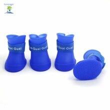Pet Dog Rain Boots Vodotěsné Candy Colours Shoes Psi Gumové deštníkové boty Doprava zdarma