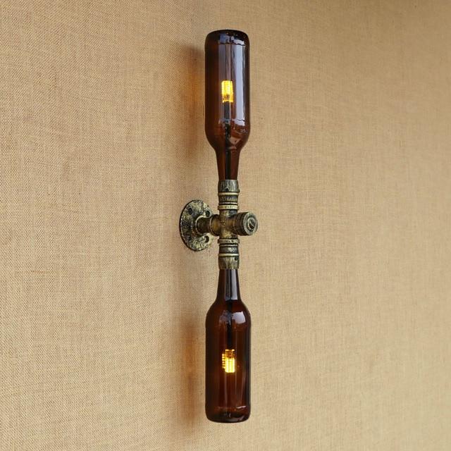 Rétro Style Loft Industriel LED Conduite D\'eau Lampe En Fer Forgé ...