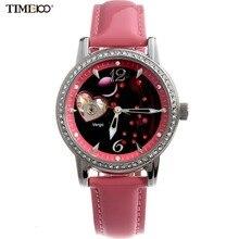 12 созвездие TIME100 женский Автоматический часы с автоподзаводом Механические Часы с Алмазом натуральный Ремешок Дамы Часы