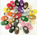 2015 new born baby shoes first walker baby moccasins shoes pu leather  Pure color fringe baby boys girls  moccains shoes