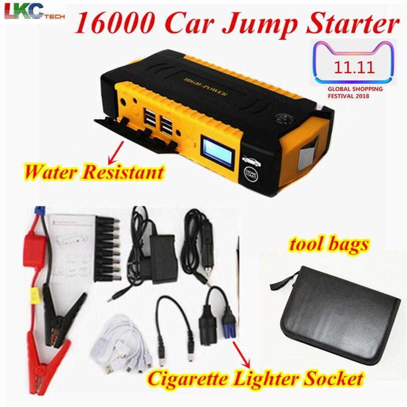 Лучший портативный аварийный power Bank 16000 мАч автомобильный прыжок стартер Авто Аккумулятор Booster Pack автомобиль прыжок стартер лучше 68800 мАч