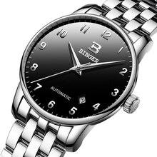 سويسرا بينجر الساعات الرجال العلامة التجارية الفاخرة الأعمال الميكانيكية ساعات المعصم تاريخ السيارات ساعة رجالي B 5005 8