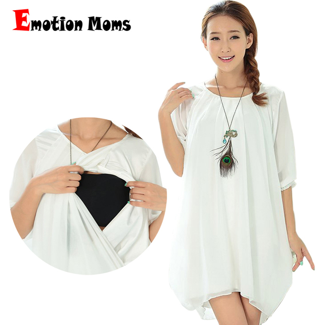 ce7295071cf0c Emotion Moms Chiffe Maternity pregnancy Clothes Summer Maternity dress  Breastfeeding dresses for Pregnant Women Nursing clothing