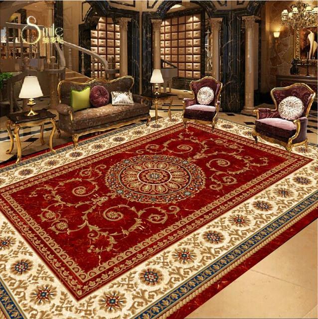 custom 3d floor tiles European carpet pvc wallpaper self adhesive 3d ...
