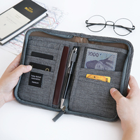 Cute Korean Card Holder Bag Multifuntional Passport Case Travel Packing Folder Oxford Fabric Waterproof ID Card