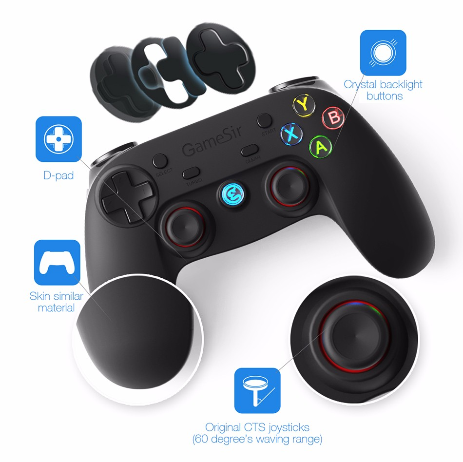 GameSir G3s Gamepad for PS3 Controller Bluetooth&2.4GHz snes nes N64 Joystick PC for Samsung Gear VR Box for SONY Playstation 2 5
