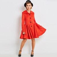 Sisjuly Women S Vintage Dress 2017 Autumn Winter Solid Full Sleeve Turn Down Collar Knee Length