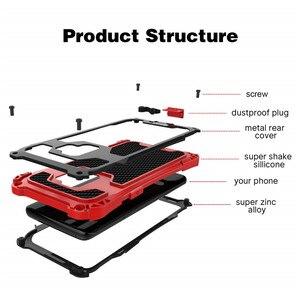 Image 3 - AMIRA Chống Sốc Nặng Lai Rugged Armor Ốp Lưng điện thoại Samsung Galaxy S10 S8 S9 Plus Note 8 9 Carbon sợi