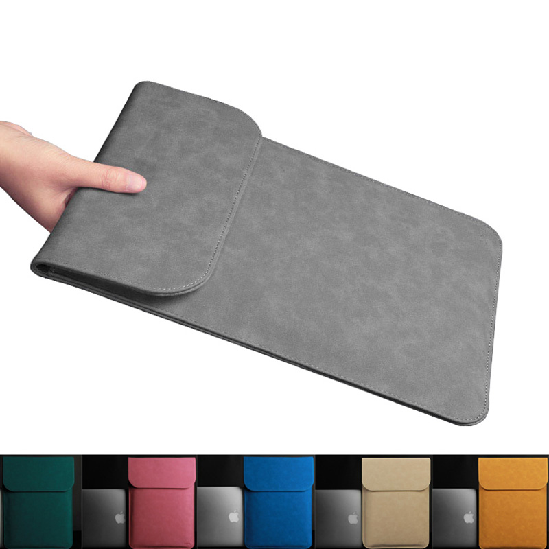 Ultra thin PU Leather Laptop Case for Macbook Air Pro Retina 11 12 13 15 Inch