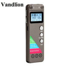 Vandlion V31 Small Audio Recorder Voice Activated Recording Dictaphone Stereo HIFI LCD MP3 Player Record Mini Pen Recorder Gray tascam dr 05 linear pcm recorder 4g micro movie recording hifi player 96k 24bit запись