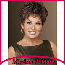 Medusa hair products: Synthetic wigs for women Short pixie cut styles Straight Mix color wig with bangs Peruca curta SW0003A