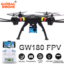 Global Drone Remote Control Drone GW180 Professional RC Drone Height Hold Mode Drone Quadcopter Can Carry with 1080P/4K Wifi Hd