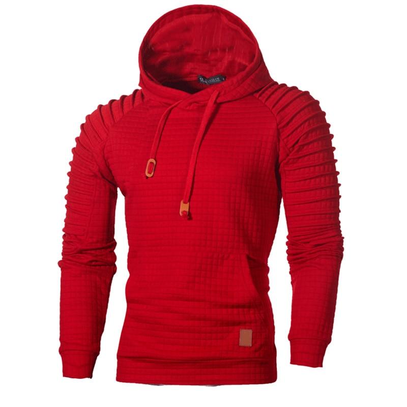 Autumn Winter Men's Hoodies Sweatshirt Striped Solid Color Pullover Fold Long-sleeved Hoodie Warm Hooded Sweatshirt Jacket 5XL