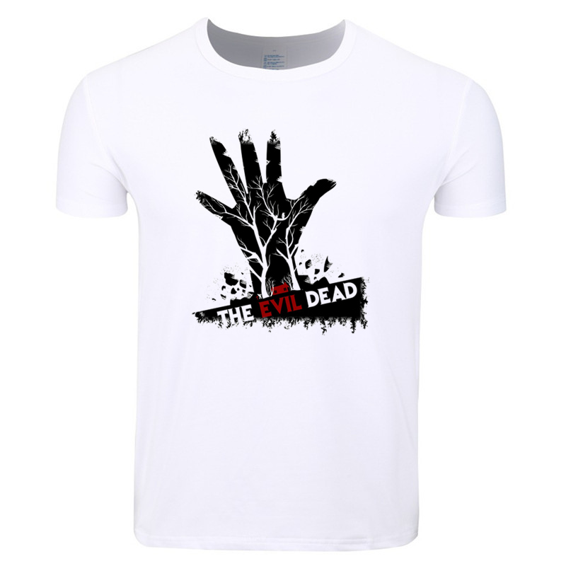 Asian Size Men Print Evil Dead Boomstick Movie T-shirt O-Neck Short Sleeve Summer Casual ...