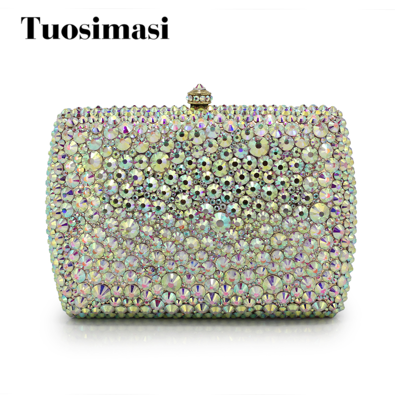 New Brand Luxury Women's Rhinestone Day Clutches Full Diamond Chain Crystal Evening Bag Party Wedding Handbag Purse(1017-PS) evening bags crystal womem s clutches rhinestone luxury dinner symphony full diamond packet length fashion female 2017 new bag