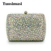 New Brand Luxury Women S Rhinestone Day Clutches Full Diamond Chain Crystal Evening Bag Party Wedding