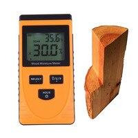 Professional Máy Kỹ Thuật Số LCD Gỗ Gỗ Moisture Meter Làm Ẩm Detector Tester Công C