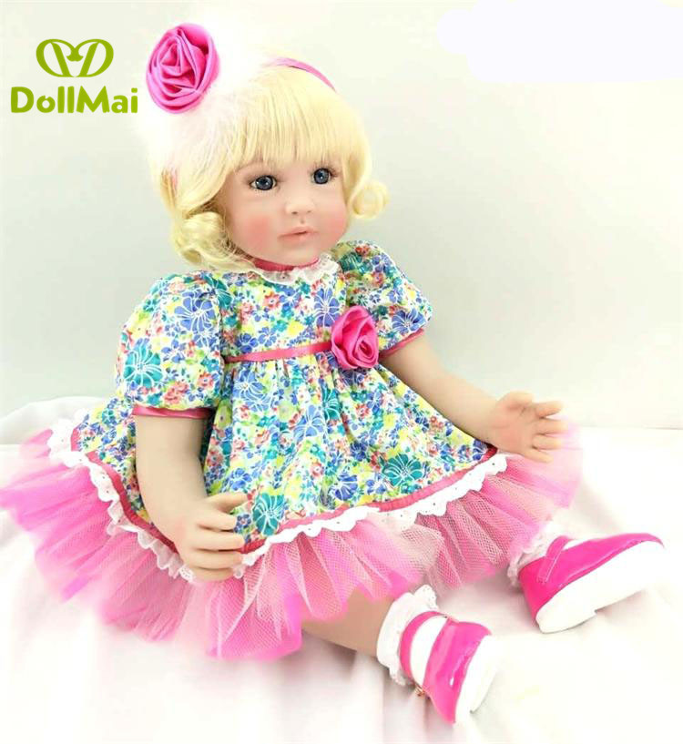 DollMai real baby dolls 60cm vinyl silicone reborn baby dolls toys for children gift classic play house toys boneca rebornDollMai real baby dolls 60cm vinyl silicone reborn baby dolls toys for children gift classic play house toys boneca reborn