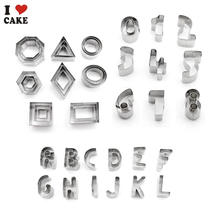 Letter Number Cake Pan Set Cake Decorating Tools Kitchen