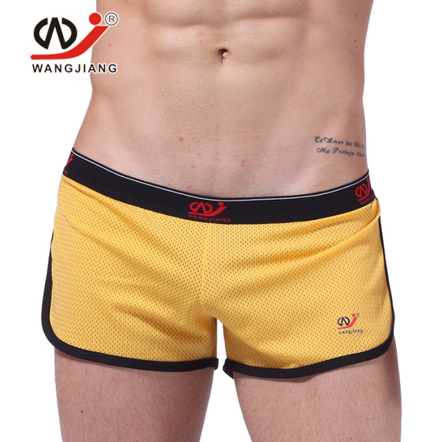 75396f94af Breathable Mesh Men's Casual Workout Shorts Men Boardshorts Joggers Race Shorts  WANG JIANG Brand Quality Size S-L S18