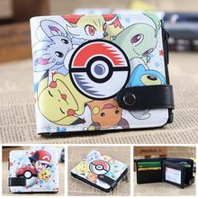 Pokemon ball cards wallet pikachu men's wallets Naruto Tokyo Ghou kids cion purse zipper hasp dollor price(China)