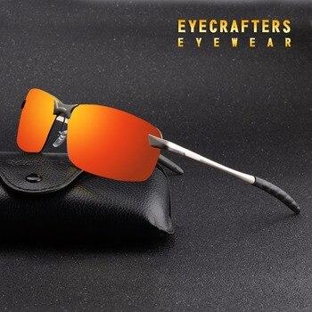 4e1f38311d Naranja para hombre UV400 polarizado gafas de sol deportivas de conducción  espejo gafas de sol con montura de Metal gafas de 3043DM