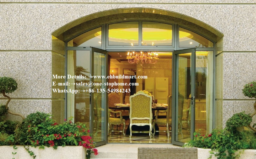 Aluminum Profile Thermal Break Or Non Thermal Break Interior Folding Door And Window